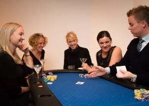 Masser af plads til sjov og hygge undervejs (fra en pokeraften for piger)